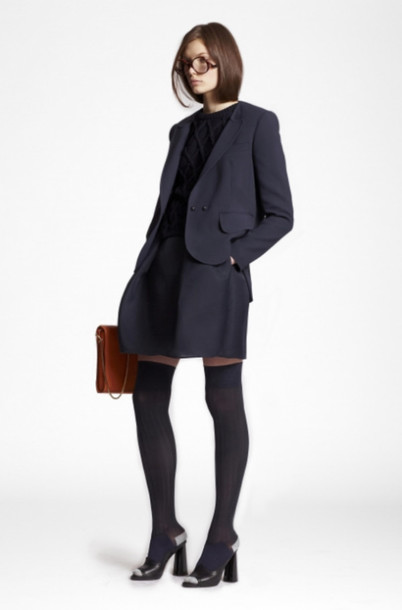 jacket carven lookbook fashion skirt