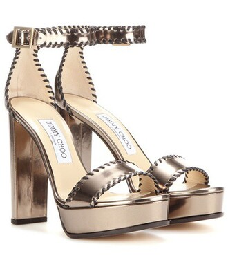 sandals leather sandals leather metallic shoes