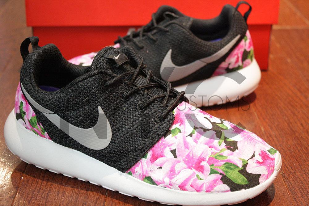 Free Shipping Nike Roshe Run Black Gamma Azalea Garden