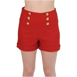 Waist Anchor Button Shorts