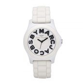 jewels,white rubber watch,marc jacobs watch,marc jacobs,white watch,rubber watch
