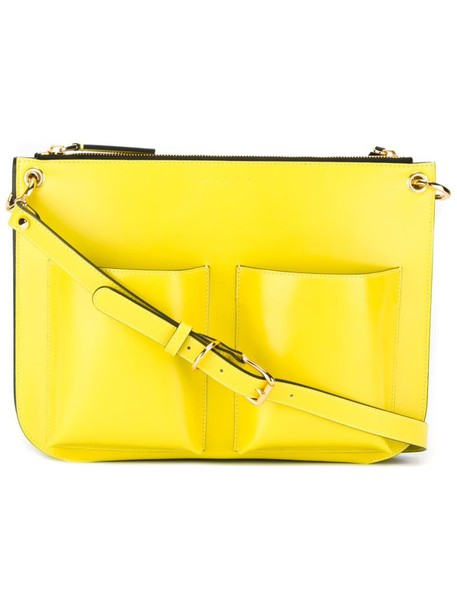 MARNI women bag crossbody bag leather yellow orange