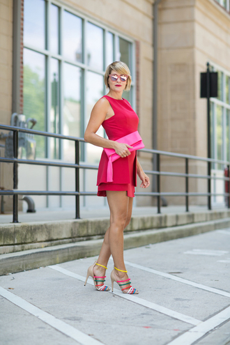 style archives - seersucker and saddles blogger dress bag shoes jewels clutch nude sandals mini dress red dress date outfit red mini dress short dress sandals sandal heels high heel sandals pink bag tassel pouch mirrored sunglasses red sunglasses sunglasses