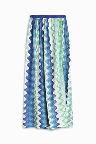 skirt split skirt side split blue