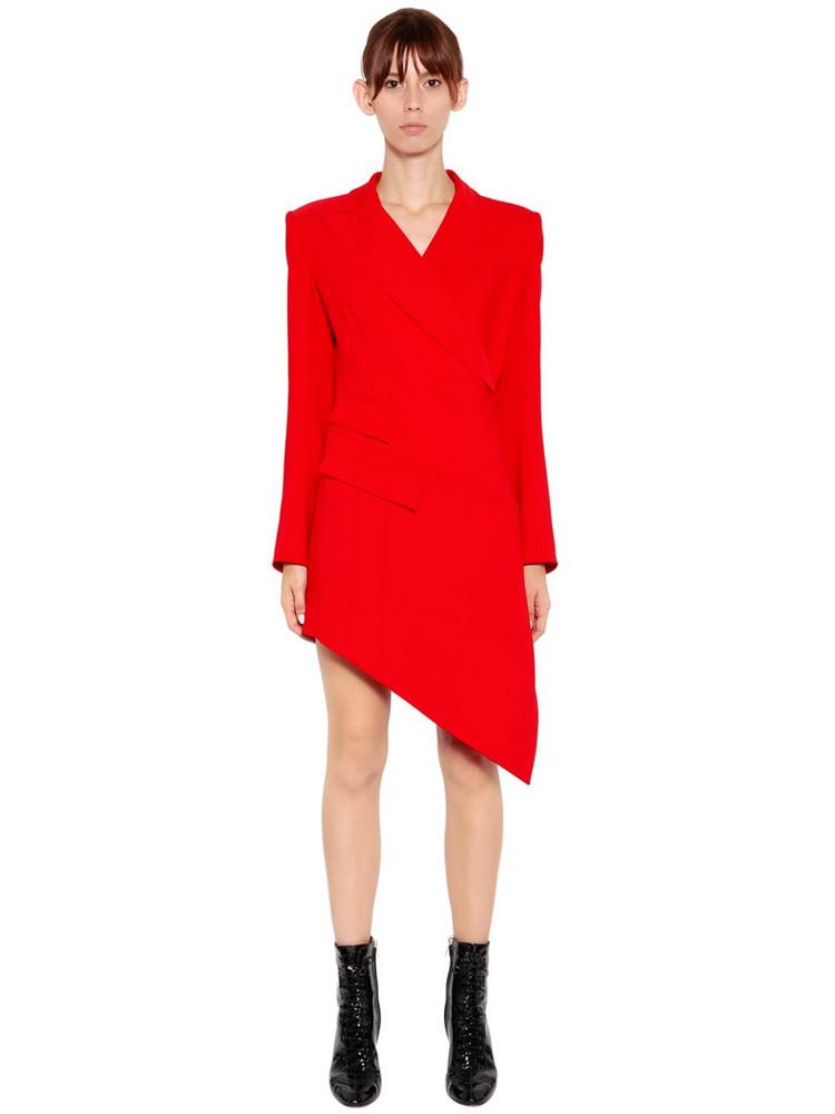 ANTONIO BERARDI Wrap Cady Jacket Dress in red