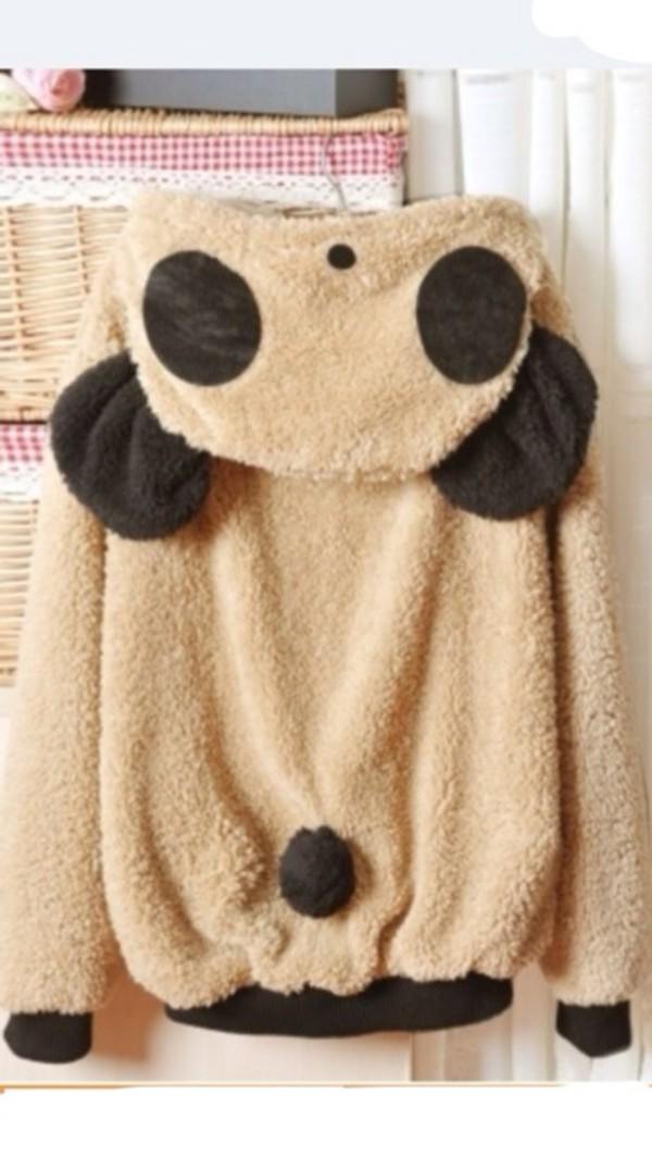 jacket teddy sweater jumper