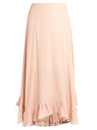 skirt midi skirt midi satin light pink light pink