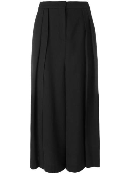 McQ Alexander McQueen pleated style women spandex japanese black wool pants