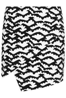 Bat Print Mini Skirt - Skirts  - Clothing  - Topshop