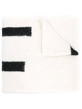women scarf white wool