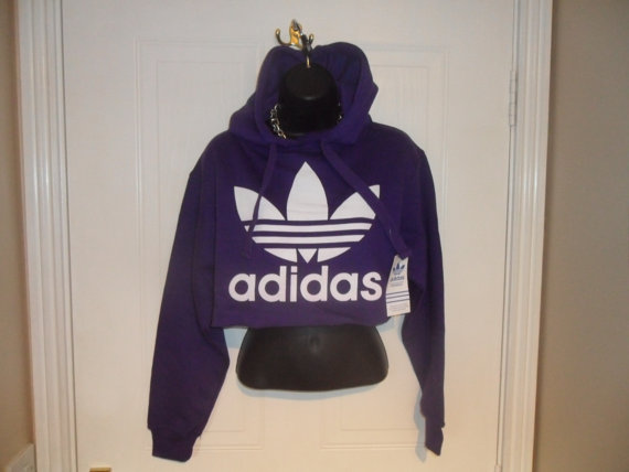unisex customised adidas  cropped sweatshirt by mysticclothing