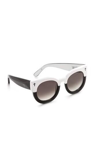 vintage sunglasses white black brown