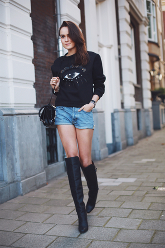 style scrapbook sweater shorts jeans shoes bag