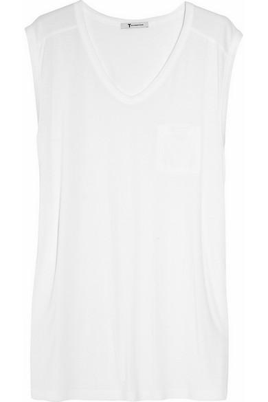 T by Alexander Wang|Classic Muscle jersey T-shirt|NET-A-PORTER.COM