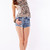 High Waist Acid Wash Short Shorts