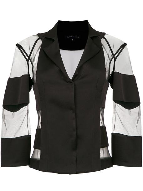 Gloria Coelho blazer women black jacket