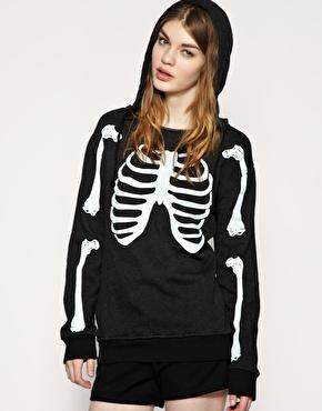 Wildfox | Wildfox Skeleton Oversize Hoodie at ASOS
