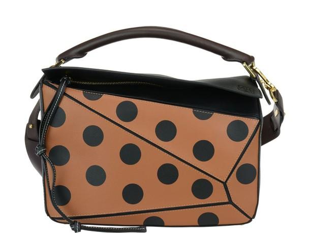 LOEWE bag tan chocolate black brown
