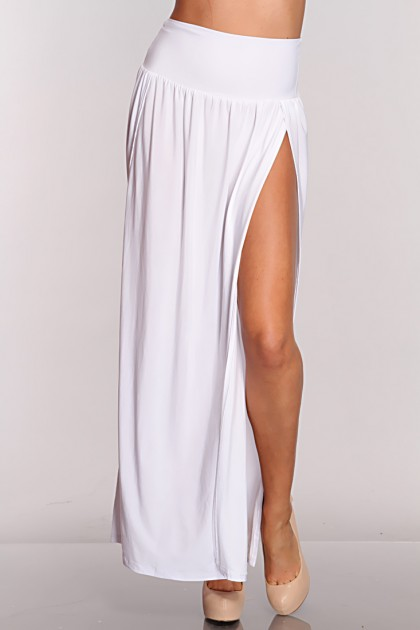 Side Slit Cuts Maxi Skirt / Sexy Clubwear | Party Dresses | Sexy ...