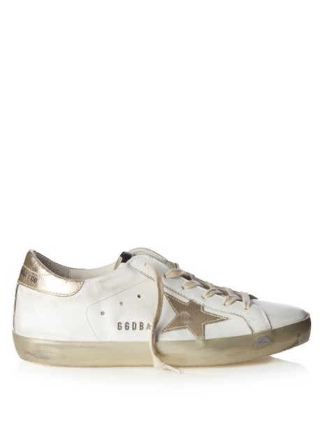 GOLDEN GOOSE DELUXE BRAND Super Star low-top leather trainers in gold / white