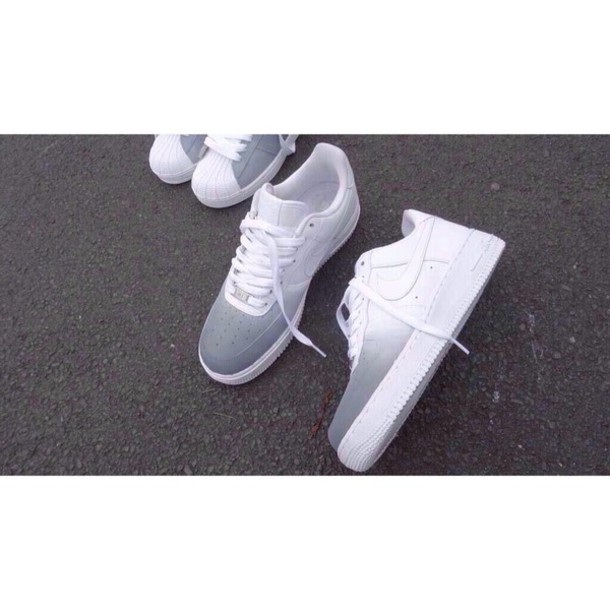 nike air nike sneakers grey white white sneakers blend shoes nike white and grey forces white sneakers low top sneakers gradient address online nike shoes