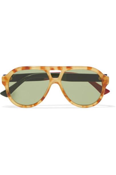 68cb6e162f6 gucci Gucci - Oversized Aviator-style Acetate Sunglasses - Light brown