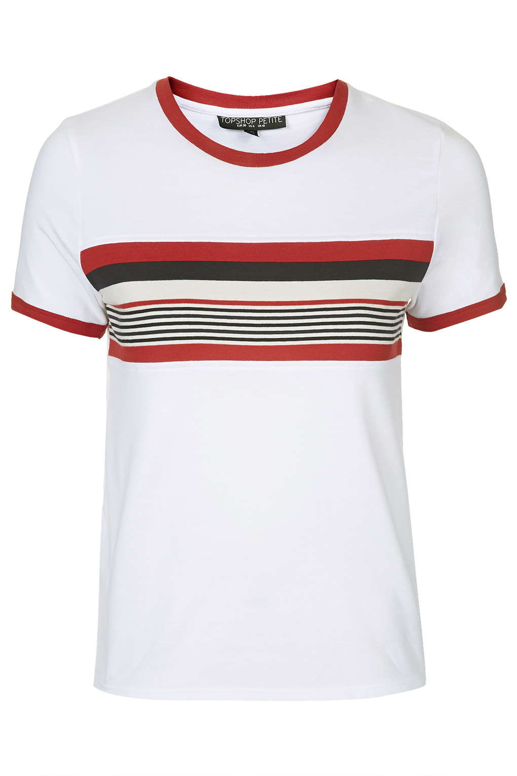 PETITE Stripe Insert Tee View All Tops Clothing