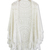 Hand Knit Fringed White Poncho - Retro, Indie and Unique Fashion