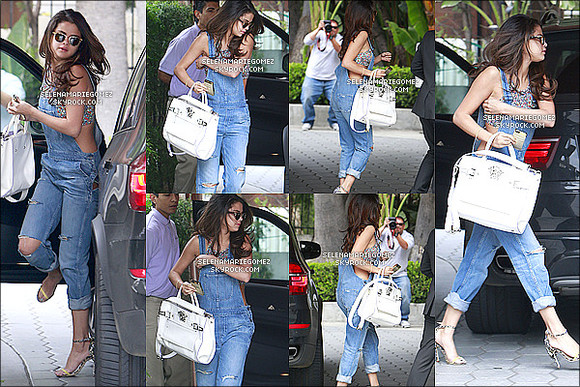 shirt designers jeans summer outfits cute selena gomez high heels bralette overalls denim overalls ripped jeans white bag leopard print spring fashion