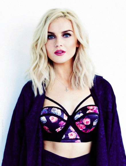 roses top perrie edwards bustier