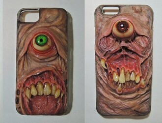 phone cover teeth eyes weird iphone case