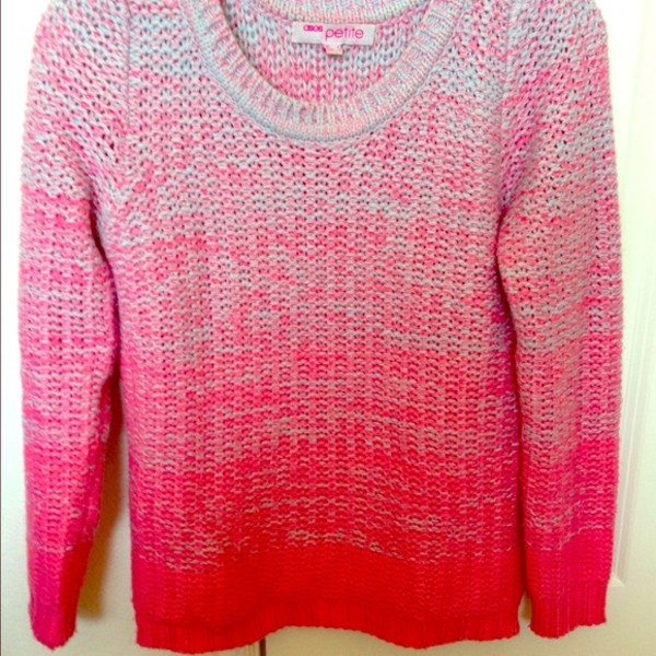 sweater ombre gradient chunky colorblock pink space dye jumper asos knitwear