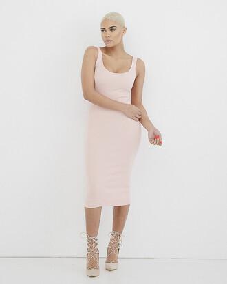 dress pink pink dress bodycon bodycon dress knit knitted dress
