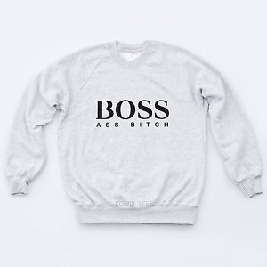 Boss(Ass Bitch) PTAF Sweat Music Ratchet Rap Swag Obey Slogan Boy Girl Sweater | eBay