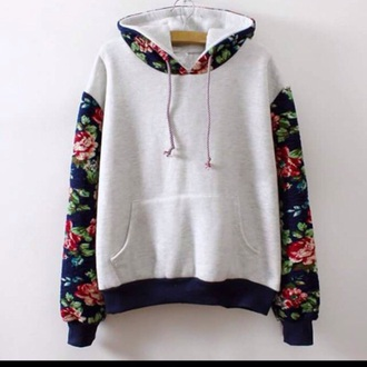 sweater sweatshirts floral