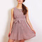 Mauve pleated chiffon style dress – sirenlondon