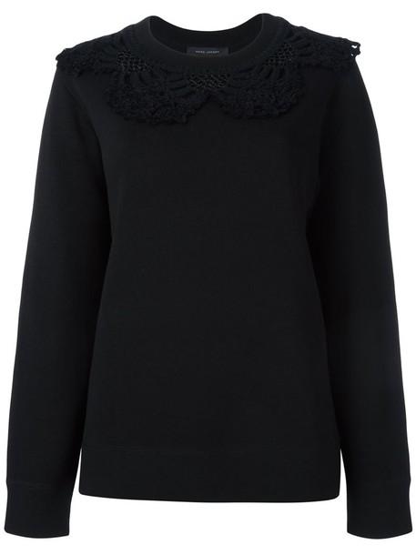 Marc Jacobs sweatshirt women cotton black wool crochet sweater