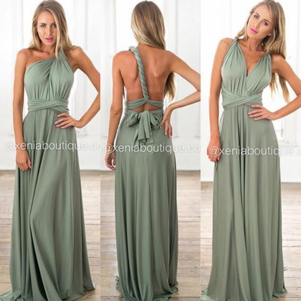 Dress Xenia Boutique Khaki Maxi Dress Multiway