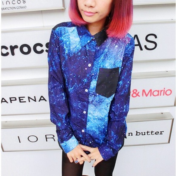 galaxy black shirt fashion cool galaxy shirt