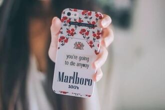 jewels iphone cover cover marlboro flowers smoke iphone 5 case cigarette cute girly die iphone phone cover iphone case roses cigarettes marlboro iphone 4 case marlboro case tumblr hair girl nails beautiful case for iphone 4/4s/5 vintage weheartit tumblr girl malboro quote on it phone case fashion style trendy cool teenagers stylish it girl shop cigrattes smoking