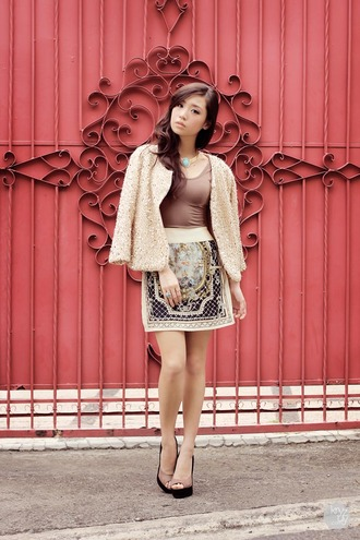 kryzuy sweater tank top skirt jewels shoes embroidered skirt