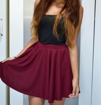 skirt circle skirt burgundy skater skirt love it maroon skater circle