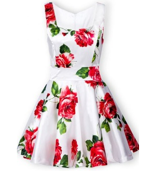 Bandeau Floral Tank Dress