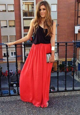 skirt maxi skirt top maxi