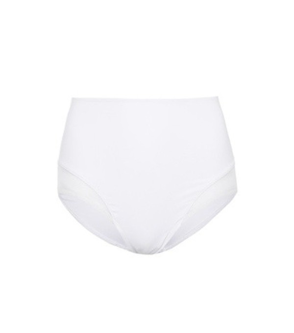 Beth Richards Mesh-panelled bikini bottoms in white