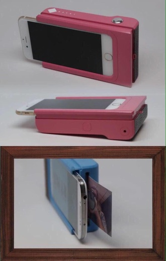 printer photography technology desk phone cover pink