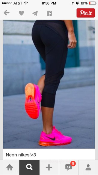 orange shoes nike nike sneakers neon pink