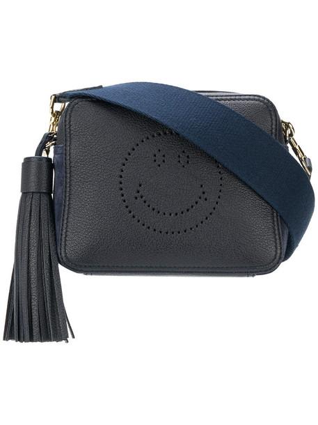 Anya Hindmarch women smiley bag crossbody bag blue