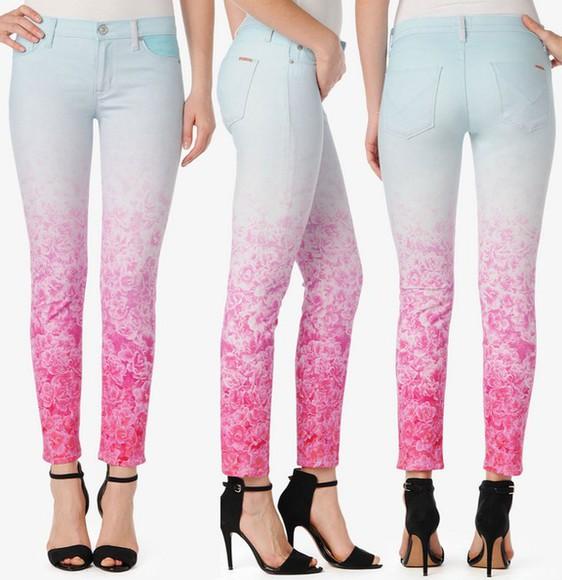 roses jeans floral ombre ombre jeans floral jeans