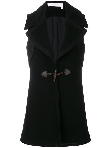 See by Chloe coat sleeveless women cotton black wool